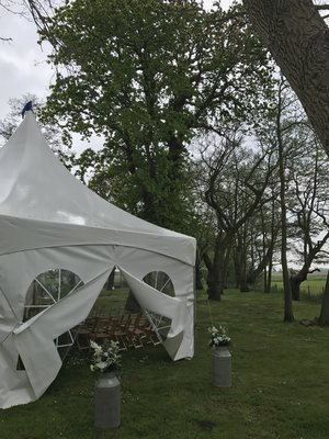 Ceremony marquee at Hall Farm
