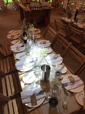 Tipi Table settings at Holkham