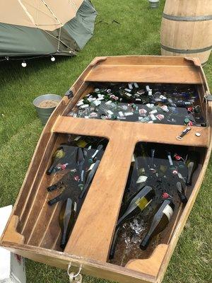 Wedding Boat of drinks