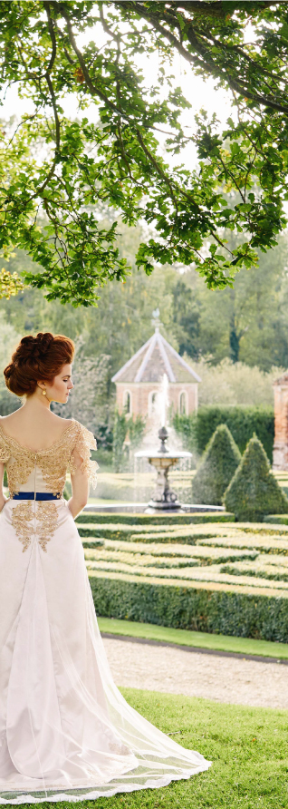 Full Wedding Planning Service in Norfolk, Suffolk and Cambridgeshire. Bride in a bespoke gown at Oxnead Hall Norfolk.
