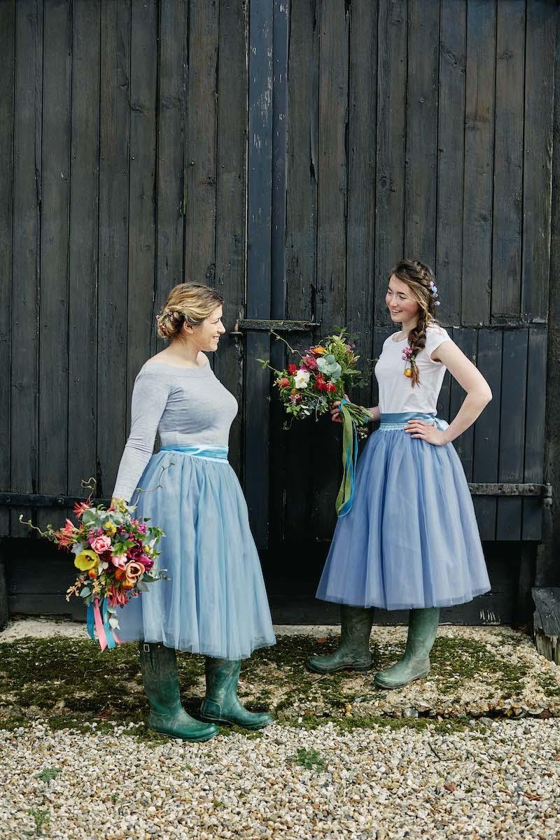Country wedding bridesmaids