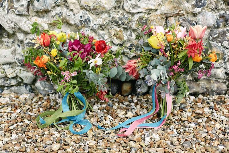 Spring bridesmaids bouquets