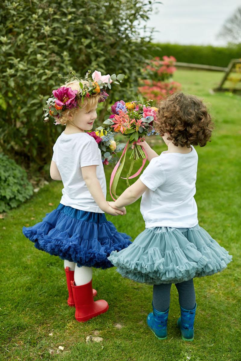 cute spring flowergirls