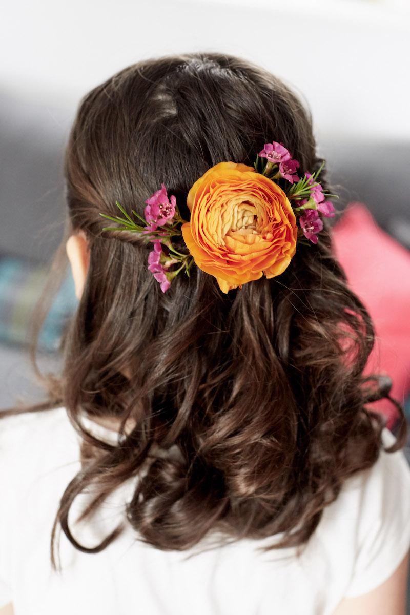 spring bridesmaid hair