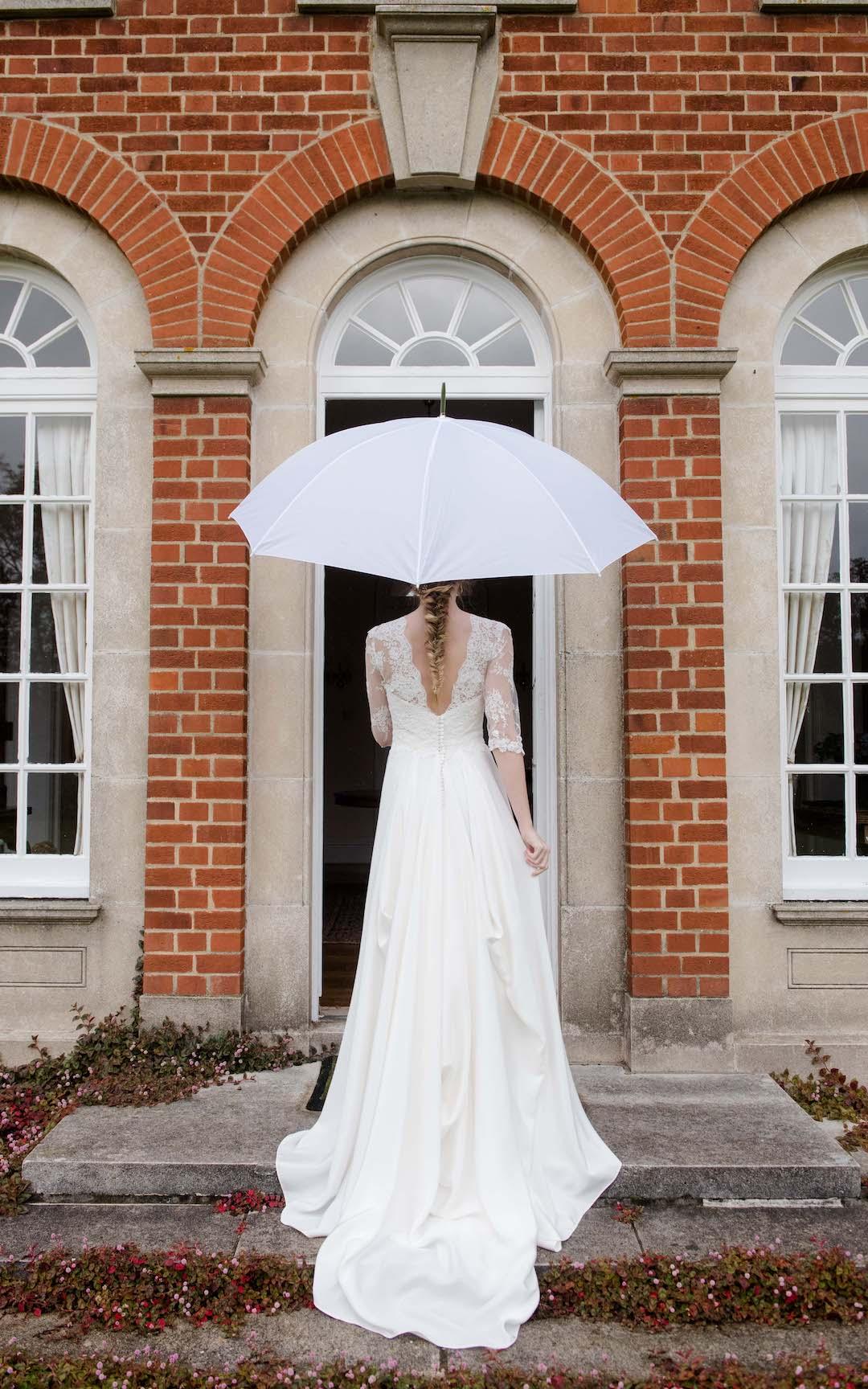 Norfolk bride with Umbrella