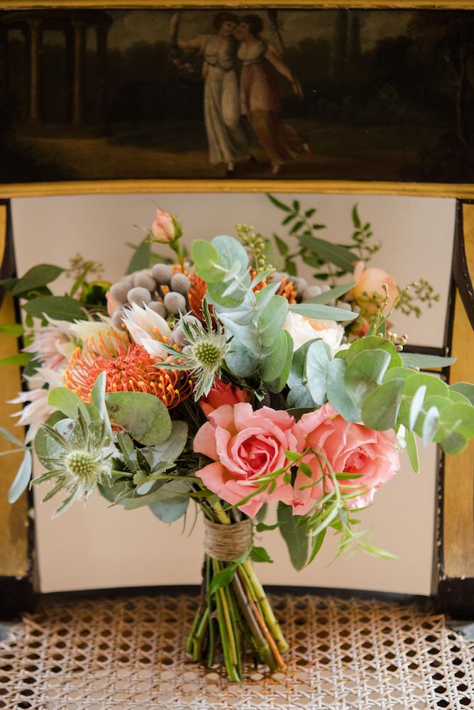 orange bride bouquet Norfolk