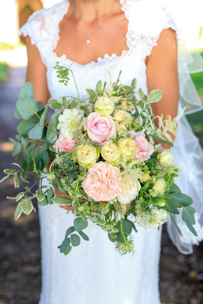 Homegrown british flowers bridal bouquet Norfolk