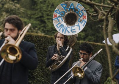 Brass band Norfolk Voewood wedding