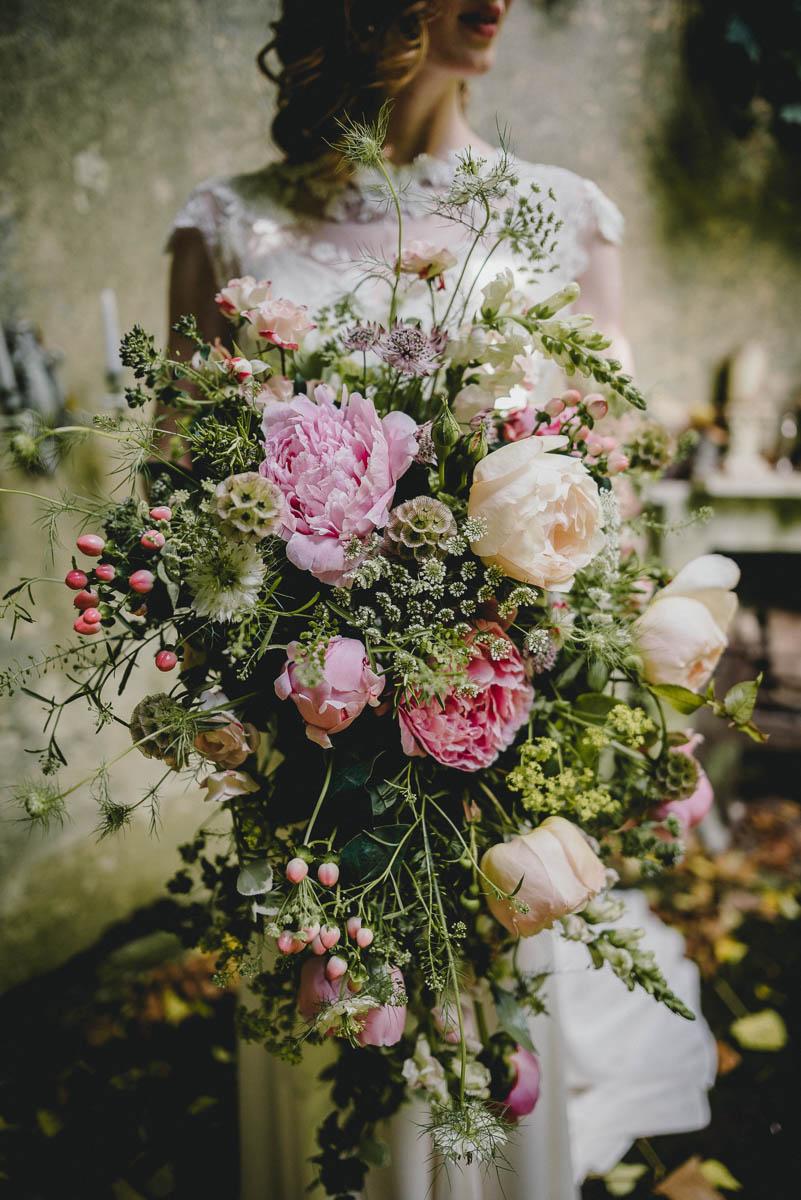 Oversized bridal bouquet british flowers