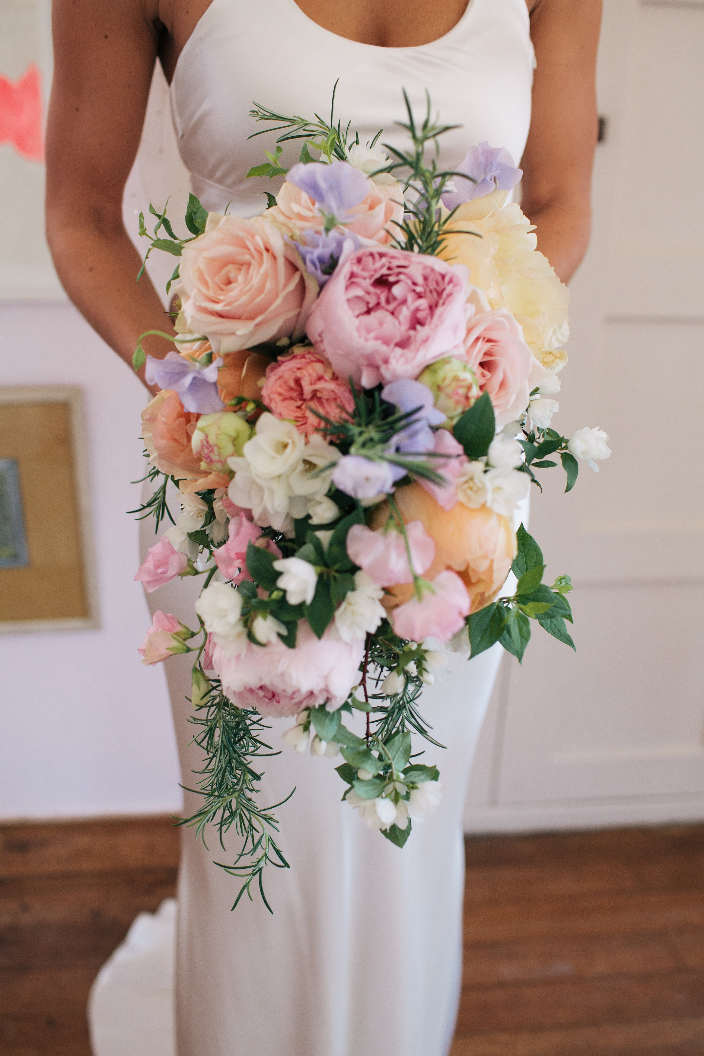 Soft pastel shades bridal bouquet Voewood Norfolk