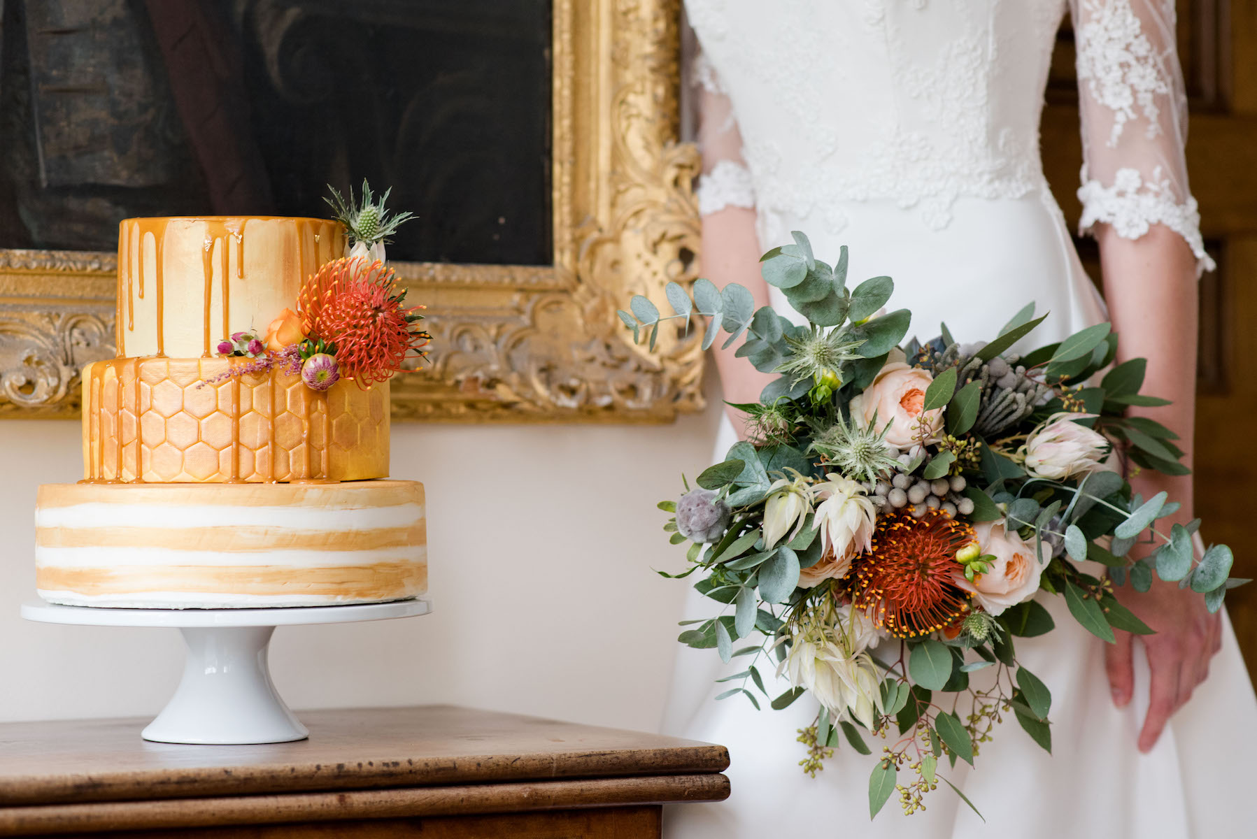 GOLD AND ORANGE WEDDING NORFOLK