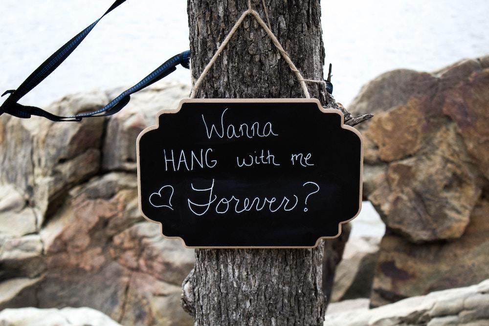Romantic outdoor wedding proposal