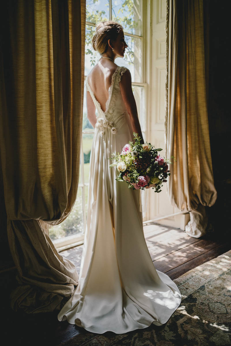 handmade wedding gown