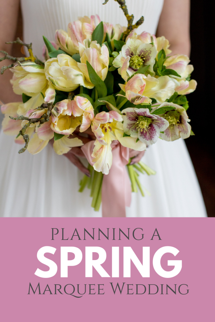 Spring marquee wedding