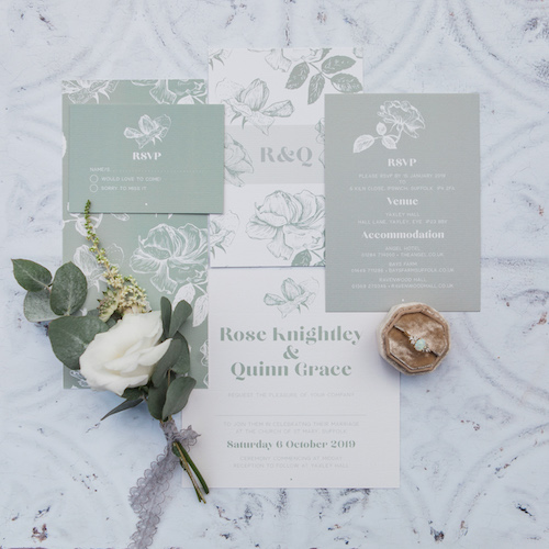 elegant hand made wedding stationery