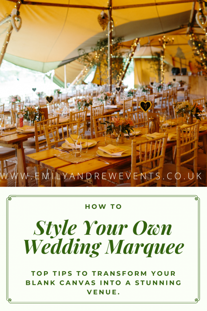 HOW TO STYLE YOUR MARQUEE