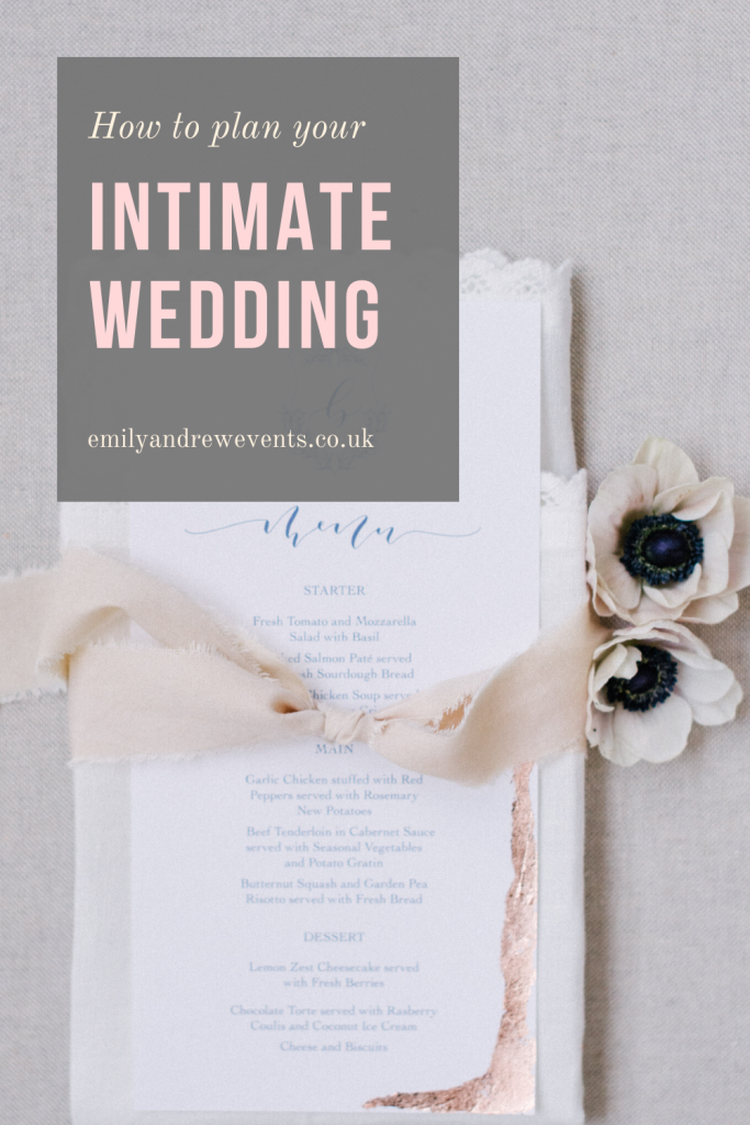 advice on how to plan your intimate wedding
