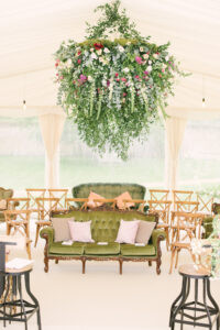 marquee hanging flowers