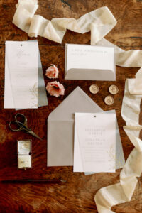 Taupe and gold wedding invites norfolk