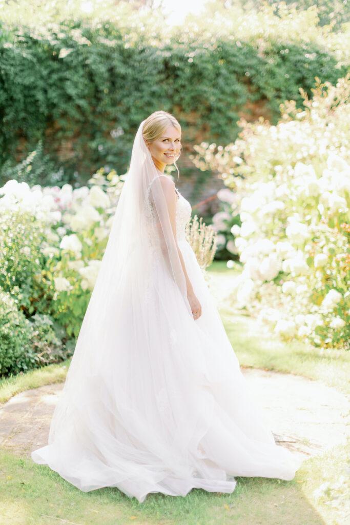 country lux bride at outdoor wedding